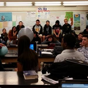 In class presentations using the Magic Planet at Fillmore High School.